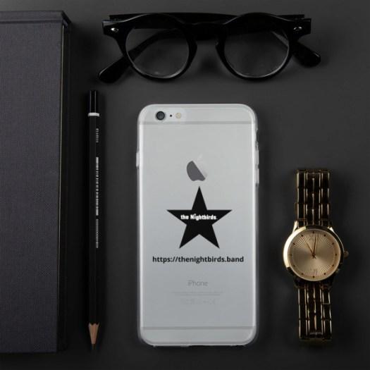 The Nightbirds iPhone Case with Logo & Black Star 00047