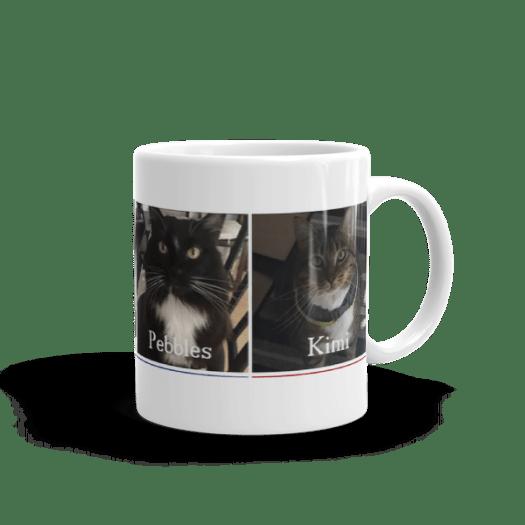 Ceramic Coffee Mug Featuring the Nightbirds Cats Tynie, Mitti, Pebbles & Kimi 00014
