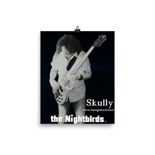the Nightbirds Poster Skully Playing Ken Smith Bass Matt Finish 00015