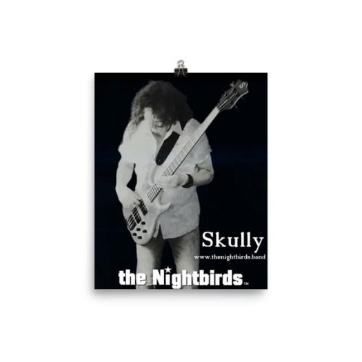 the Nightbirds Poster Skully Playing Ken Smith Bass Matt Finish 00015