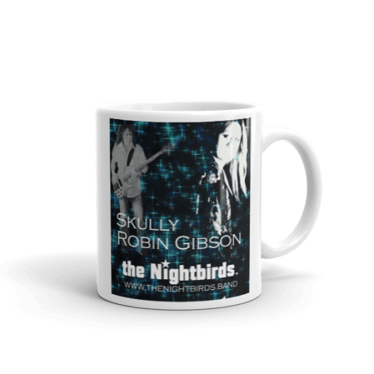 White Ceramic Mug featuring Skully & Robin Gibson from Feels So Right Video 00025
