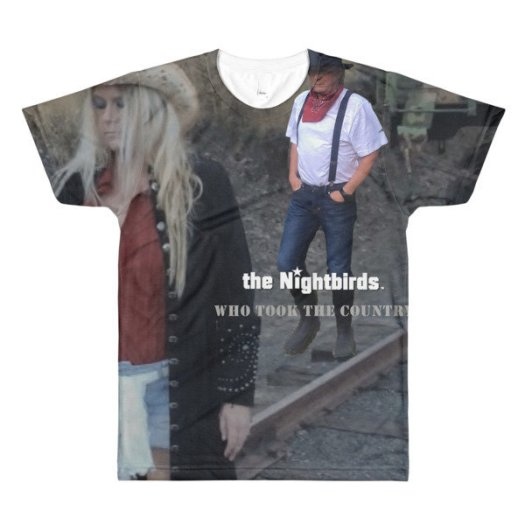 the Nightbirds WHO TOOK THE COUNTRY Men's Sublimation crewneck t-shirt 00032