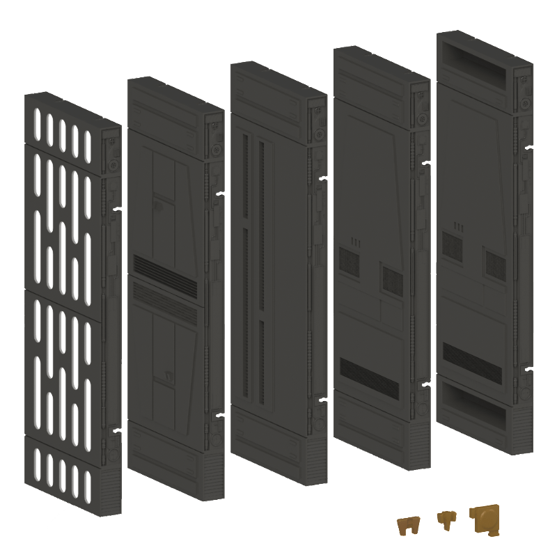 "1:12 Scale SPACEWALLS 9PC starter set for 6"" figures - BACKORDER"