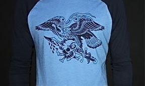 Triple Threat Baseball Tee (blue)