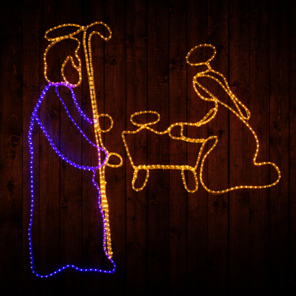 Mary, Joseph And Baby In Manger ML-MJBM