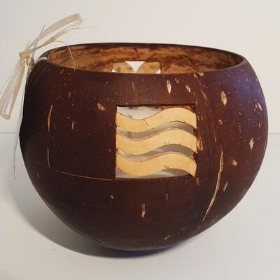 Cass' Candle - Mailelani Design 4 squares - Coconut Scent (Popo)