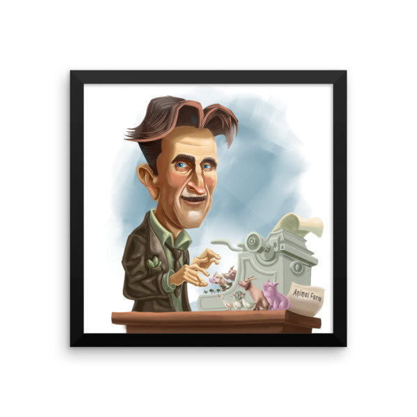 George Orwell Framed poster