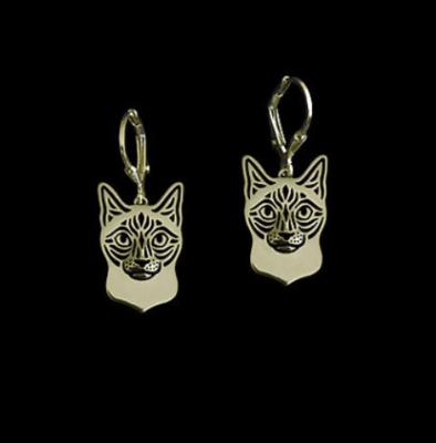 Siamese Cat Dop Earrings