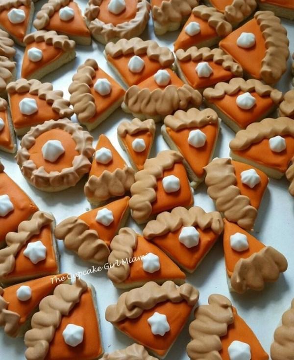 Thanksgiving Pumpkin Pie -  Sugar Cookies