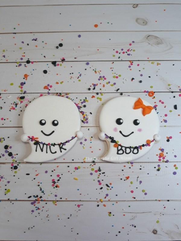 Large Ghost Halloween Sugar Cookie