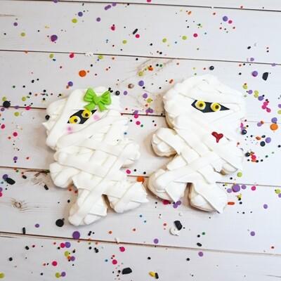 Mummy Halloween Sugar Cookie