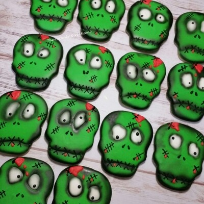 Zombie Halloween Sugar Cookie