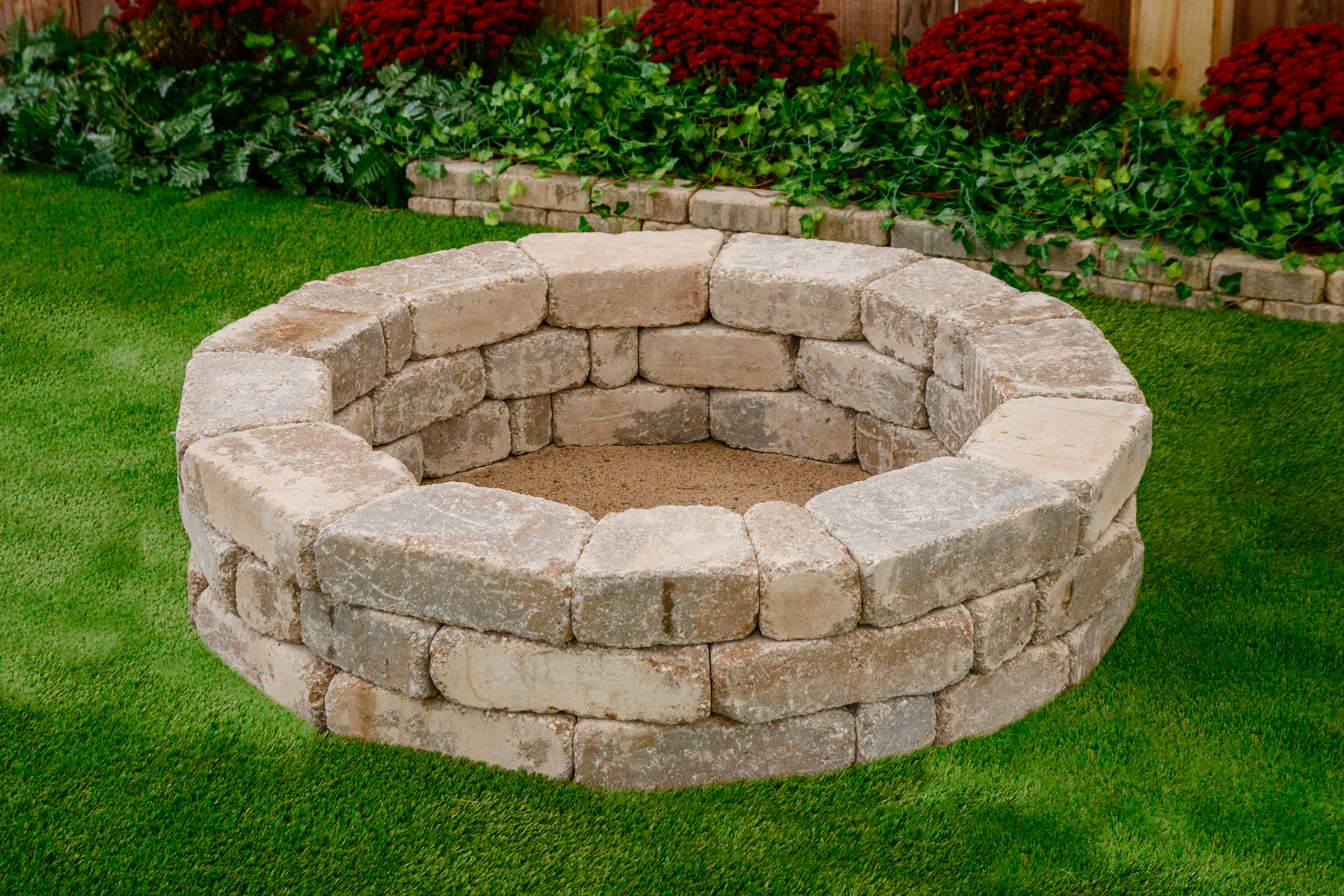 Free fire pit included - color will match grill station