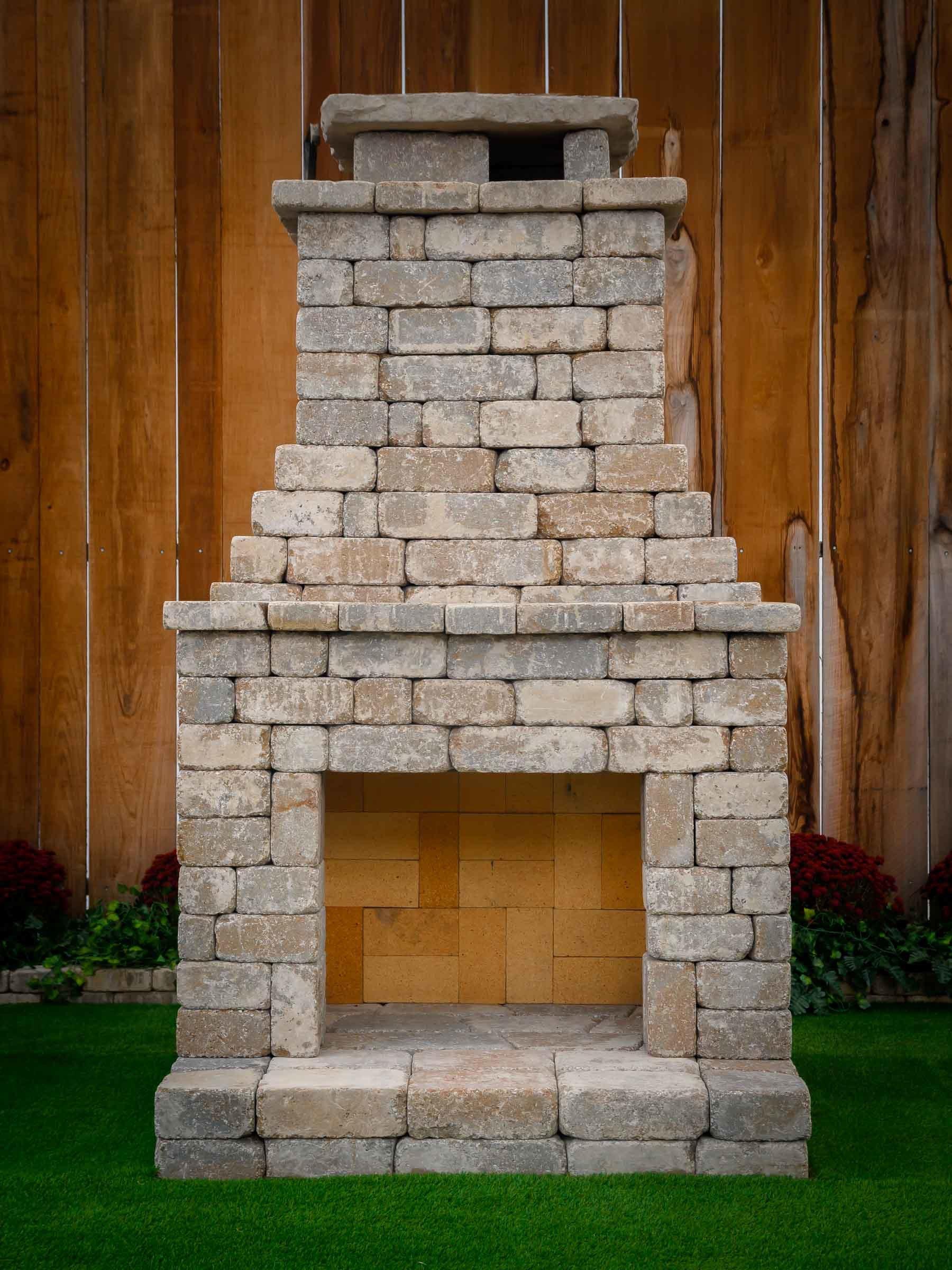 Fremont Fireplace Kit  in Bethany Ledge Blend