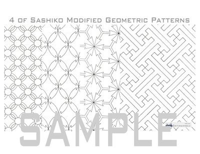 Sashiko Patterns #2_Modified / Letter Size Download Material in PDF.
