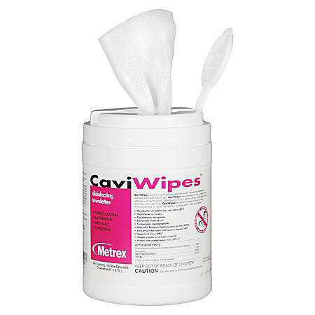 Caviwipes Disinfectant Towelettes 160/Tub MBCCW01