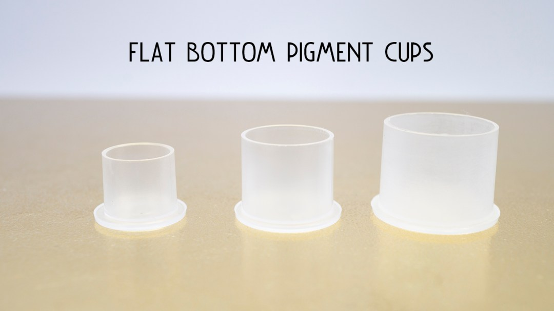 Flat Bottom Pigment Cups MBCFBPC02