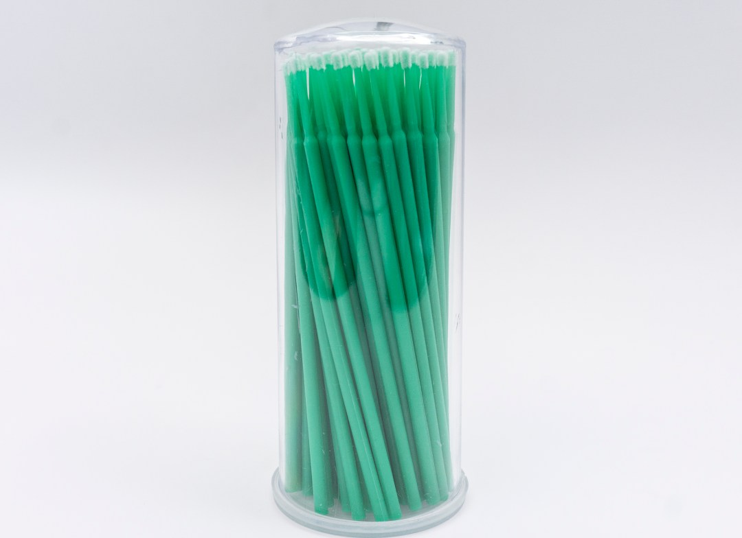 Medium – Green Microbrushes 100pcs MBCMPMB0001