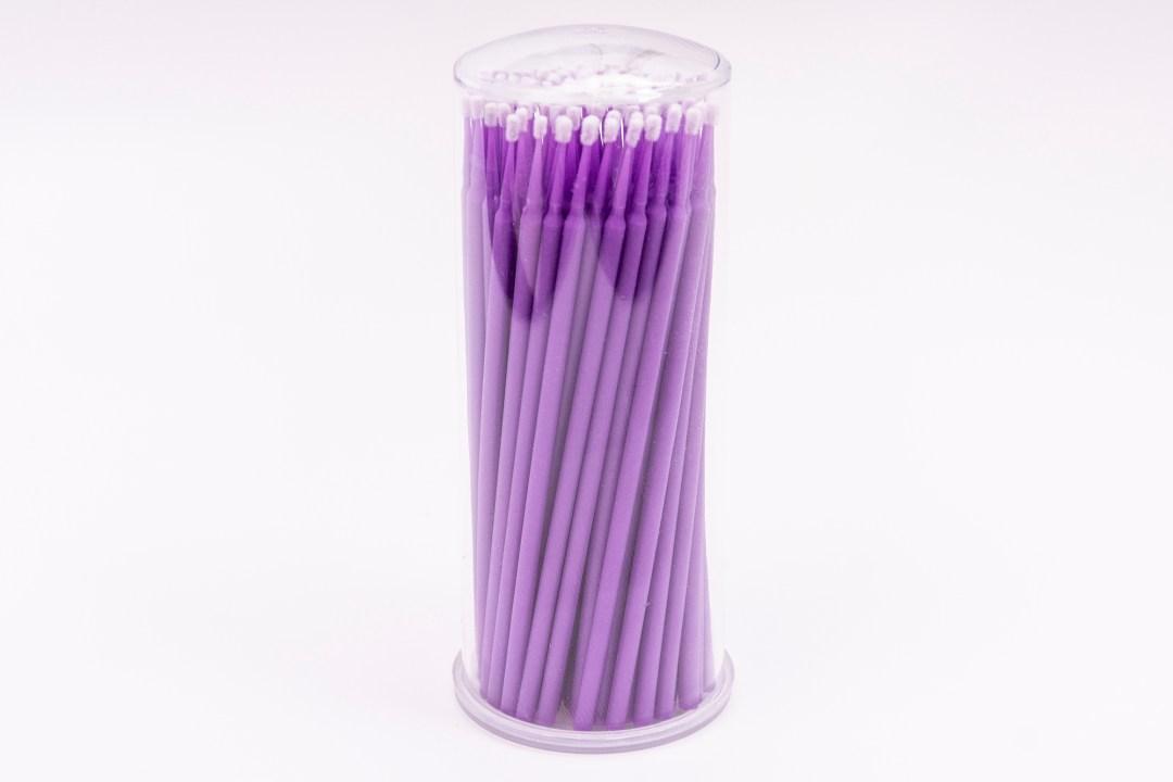 Small – Purple Microbrushes 100pcs MBCSPMB0001