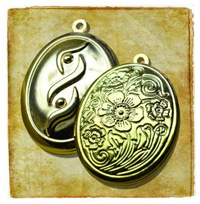 """Медальон для кулона цвет """"Золото"""" золото"""