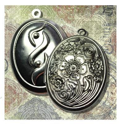 """Медальон для кулона цвет """"Серебро"""" серебро"""