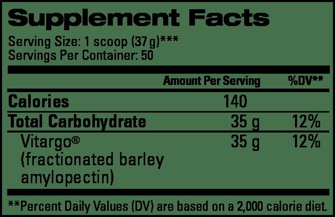 Plain 50 Scoop Supplement Facts