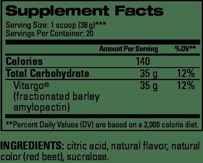 Fruit Punch Supplement Facts