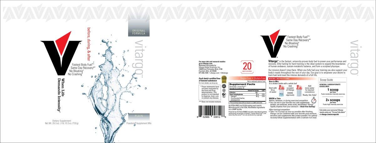 Plain 20 Scoop Label