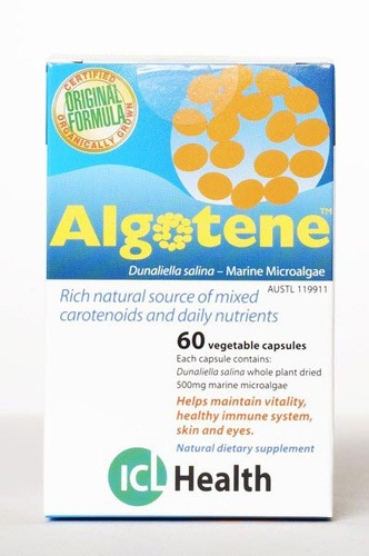 Algotene: Natural beta-carotene  60 vegie caps 00026