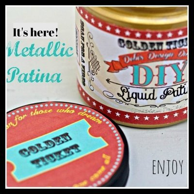 Golden Ticket Liquid Patina - sells out often, if you need it, don't hesitate