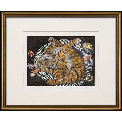 Sylvia Portillo -- Cat Sleeping Pretzel Style