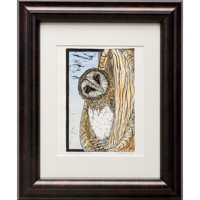 Sylvia Portillo -- Barn Owl in Fall