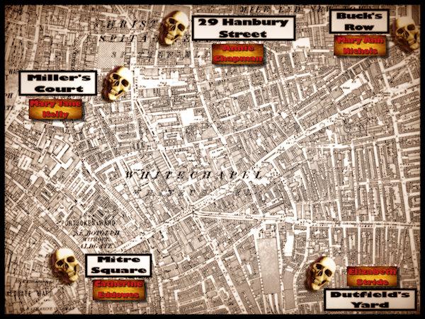 Death Map of Whitechapel whitechapelmap