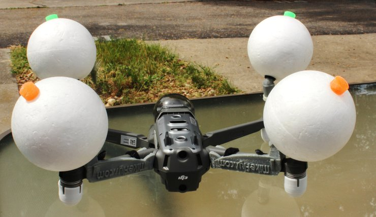 Mavic 2 Pro/Zoom Float Kit Smooth Styrofoam floats.
