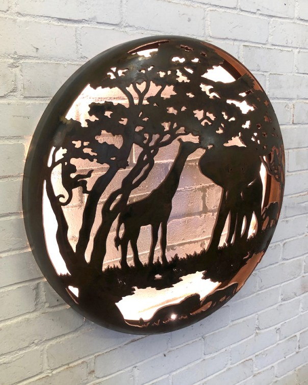 Illuminated Wall Mount - Africa Design 1000mm