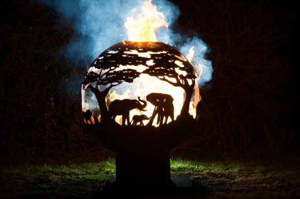 800mm Africa Themed Firepit
