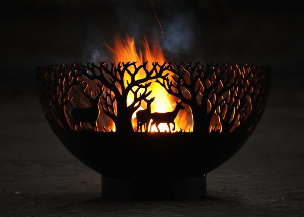 800mm Winter Themed Firepit Bowl 800BowlWinterOL