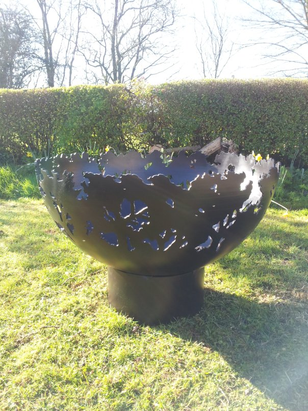 900mm Forest Themed Firepit Bowl