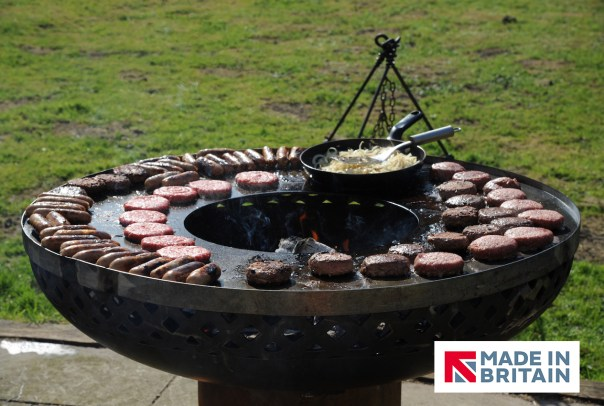 Raised BBQ Firepit BBQ