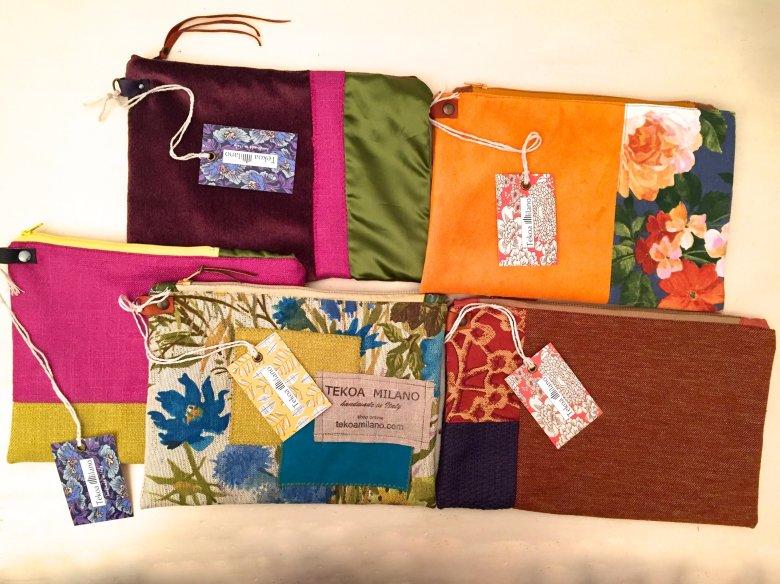 Ordina la pochette, sarà confezionata con gli stessi tessuti della tua borsa!!!