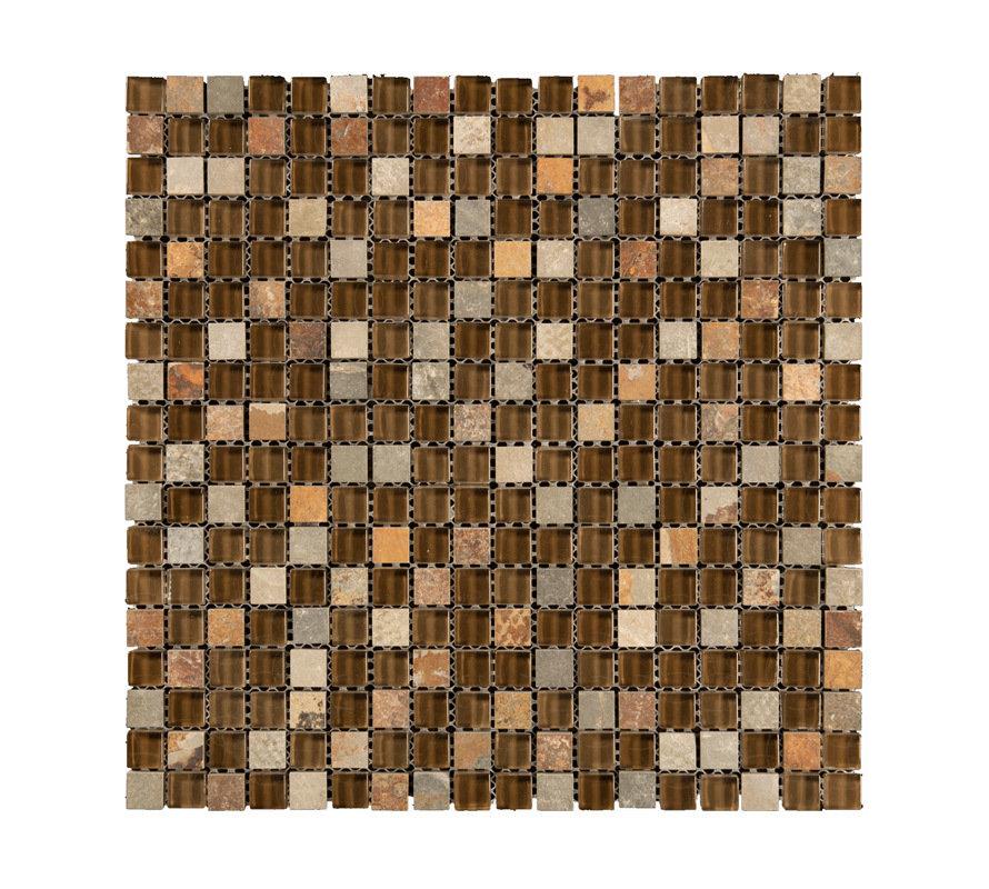Mono Serra Mosaic Tile, Combo Brown, GL-626, 12 x 12, 00165