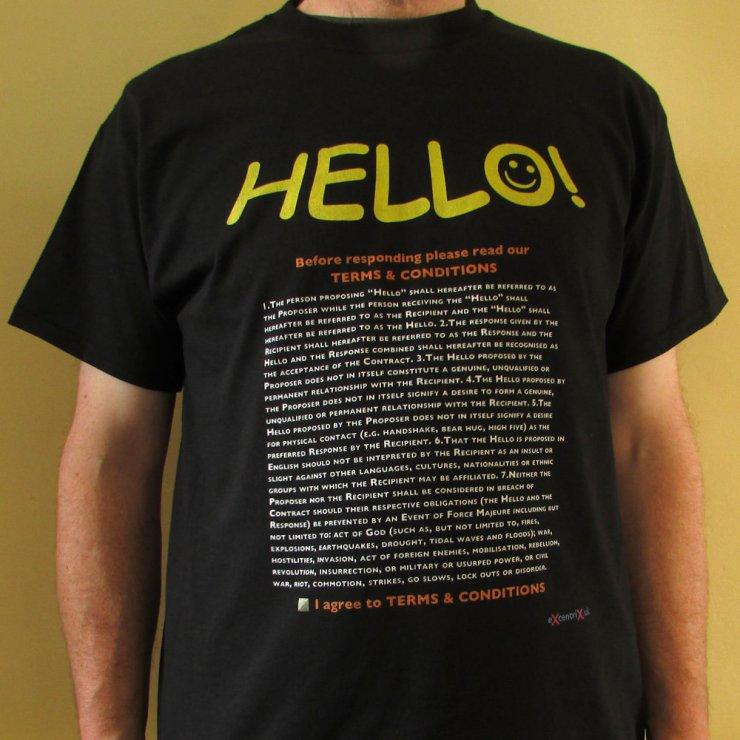 Hello (GDPR privacy) T-shirt XTS00011