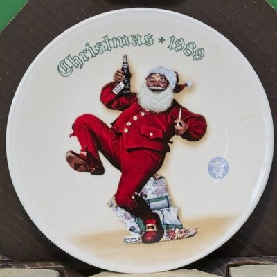 1989 Knowles Norman Rockwell Christmas Collector Plate,