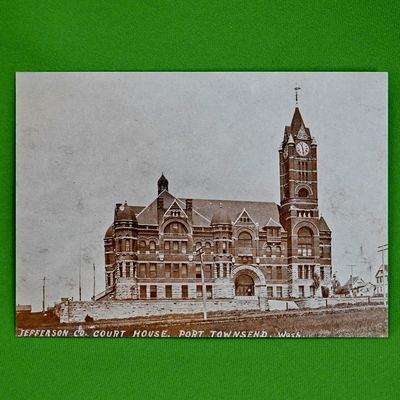 Vintage 5 X 7 Unused Postcard, 1910 Photo, Jefferson County Court House
