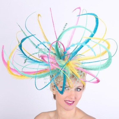 Burst of Color Fascinator