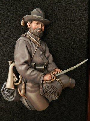 APG 9 Confederate Cavalryman unpainted relief.
