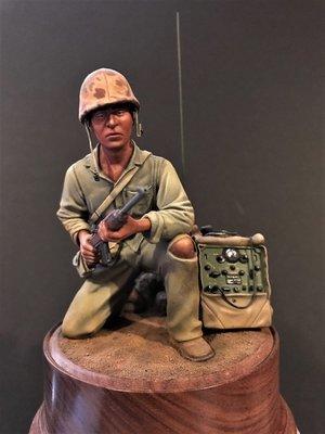 Navajo Codetalker 5th Marine Div Iwo Jima Feb 1945 painted kit by Rick Rutter