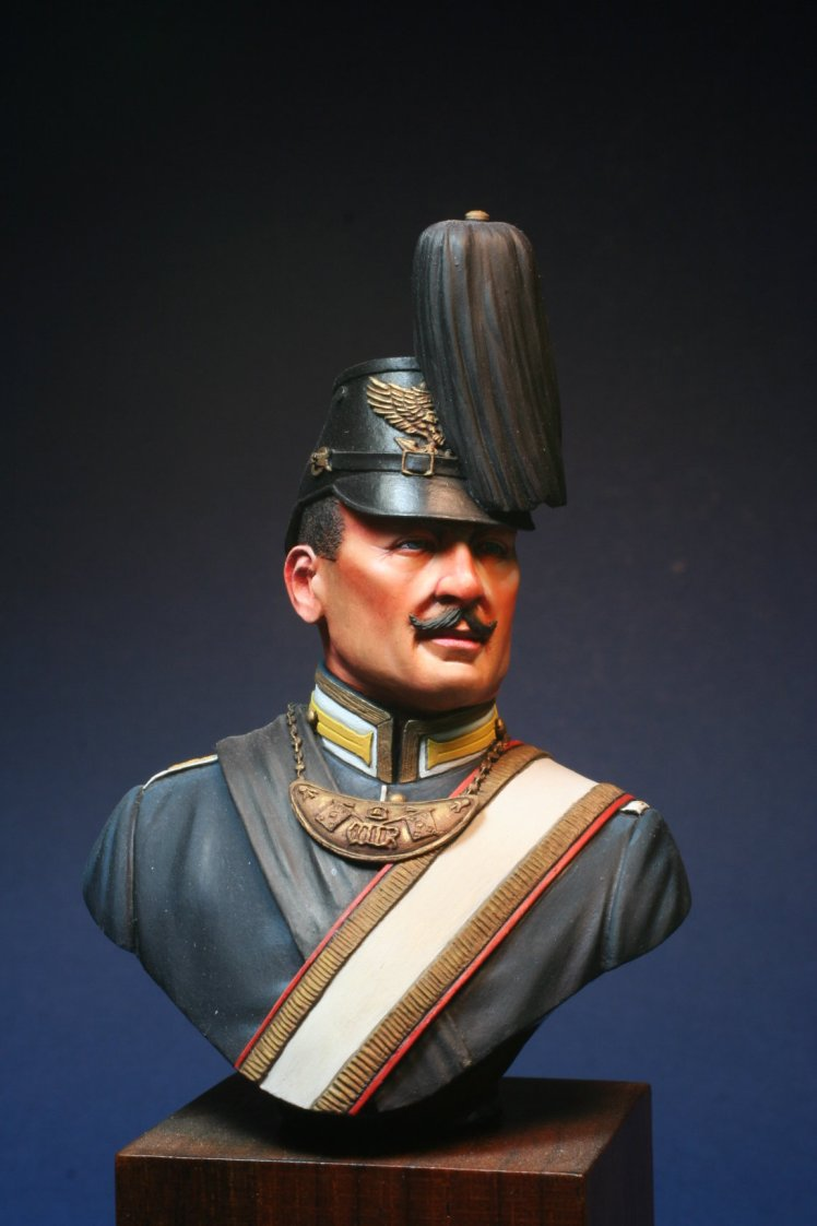 Colour Bearer 1st German Sea Battalion 1896 Painted bust by Derek Hansen 0001