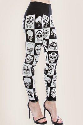 Skull and Rhinestone Leggings