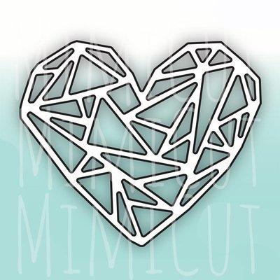 MIMICUT Metal Die Origami Heart